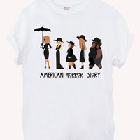 american horror story coven Screenprint 100% soft cotton t-shirt For girl and men Unisex