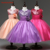 BacklakeGirls 2018 Hot Sale Cheap Flower Girl Dresses Muliti Color with Shinny Sequined Communication Dress For Wedding Party