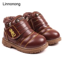 2017 New Winter Keep Warm Snow Boots Kids Boys Girls Antislip Ankle Boots Fashion Thic
