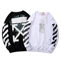 OFF-WHITE new trend terry print pullover sweater
