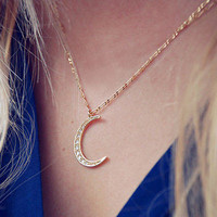 Crystal Moon Charm Fashion Pendent Necklace Chain Choker