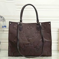 Louis Vuitton LV Classic Letter Embossed Tote Bag Ladies Fashion Shoulder Bag Shopping Bag