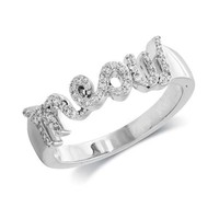 ASPCA Tender Voices Meow Ring 1/5ctw - Size 7