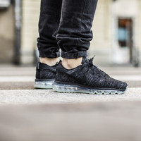 Men's Nike Flyknit Air Max Running Shoes 'Black/Black/Dark Grey/Anthracite' (Tmall ORIGINAL)