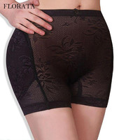 FLORATA Sexy Women Seamless Hip Enhancer Shaper Push Up Padded Panties Underwear Pants