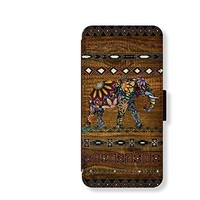 Wood Elephant Card Slot Leather Case for Iphone 6 Iphone6 Plus Iphone 5c Case Iphone 5 Case Wallet Case for Samsung Calaxy S5 S4 Case Note3 Note4 Case Cell Phone Holster Design Picture Leather Phone Holster Pouch Phone Covers (Case For iPhone 5/5s)
