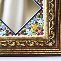 decorative mirrors of profiled and enameled wall handmade antique Arabic and Renaissance formulas