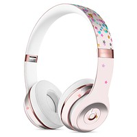Multicolor Falling Stars Over Pink Full-Body Skin Kit for the Beats by Dre Solo 3 Wireless Headphones