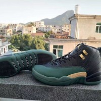 Nike Air Jordan 12 Retro AJ12 Green Black Men Basketball Shoe US7-13