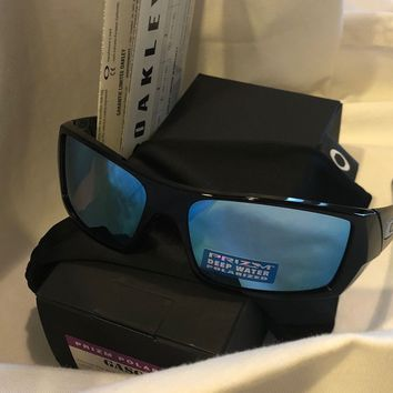 NEW OAKLEY GASCAN SUNGLASSES OO9014-15 POLISHED Black PRIZM DEEP H20 POLARIZED