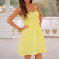 A Place In The Sun Dress,Yellow