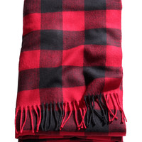 H&M - Plaid Throw - Red