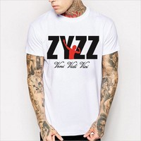 Print Summer Men's Fashion Cotton Short Sleeve Men T-shirts [6541132355]