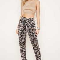 Rise Of Dawn Leopard Pants   Forever 21 - 2000169969