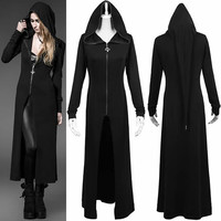 Black Hooded Gothic Witch Jacket