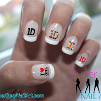 One Direction Logo 1D Nail Art Water Transfer Decal - Waterslide Paper - Water Slide Paper