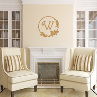 Wall Decal Monogram Retro Style B Frame Personalized Vinyl Wall Decal 22495