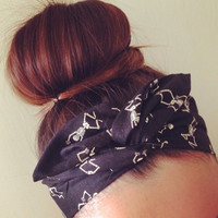 Skeleton Dolly Bow Headband