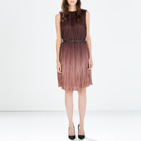 Ombre dress with belt