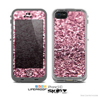 The Subtle Pink Glimmer Skin for the Apple iPhone 5c LifeProof Case