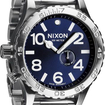 Nixon 51-30 Tide Silver & Blue Sunray Analog Watch