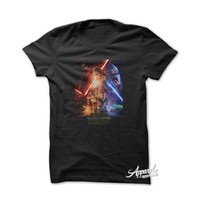 Star Wars Movie Poster Episode The Force Awakens T-Shirt