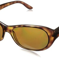 Ray Ban Women's Rb4061 Polarized Oval Sunglasses Havana 55 Mm