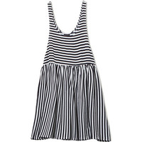 Winona Dress Black Stripe
