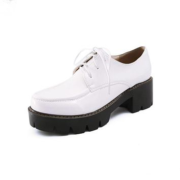 Women Lace Up Oxford Shoes