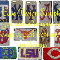 Glitter Football Bumper Case iPhone 4/4S and 5 Cell Phone Case