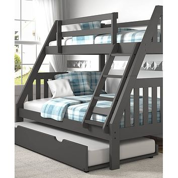 Lila Modern Bunk Bed with Trundle