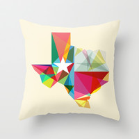 Texas State Of Mind Throw Pillow by Fimbis | Society6
