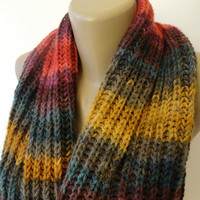 chunky infinity scarf ,unisex . winter fashion accessories ,knitted colorful scarves