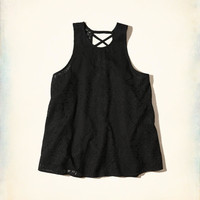 Girls Strappy Lace High-Neck Tank | Girls Tops | HollisterCo.com