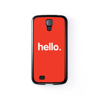 Hello Black Hard Plastic Case for Samsung Galaxy S4 by textGuy