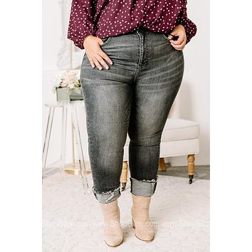 They Can't Keep Up Vintage Charcoal Skinny Jeans | Plus