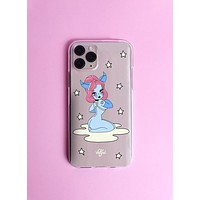 Cancer Wonderland Clear Phone Case