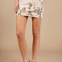 Back In Action Embroidered Mini Skirt