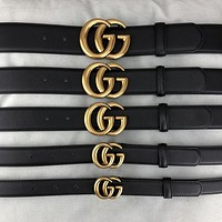 GUCCI GG letter buckle men's and women's belt