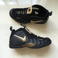 Air Foamposite Pro Black/Gold Sneaker Size 40--47