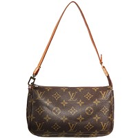 Louis Vuitton Pouchette Monogram Mini LV Logo Shoulder Mini Bag
