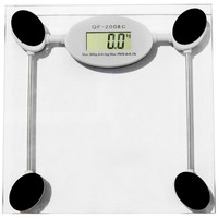 Evelots® Tempered Glass Digital Bathroom Scale, Backlight Display,Accurate, Clear