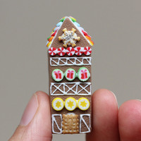 Gingerbread House With Rainbow Candy - G