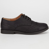 Soda Toast Womens Oxford Shoes Black  In Sizes