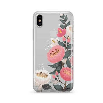Laurel Floral - Clear TPU Case Cover