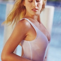 Sheer Double Dip 1-PC Swimsuit