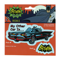 DC Comics Batman Classic TV Series My Other Car Batmobile Decals