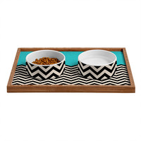 Bianca Green Follow The Sky Pet Bowl and Tray