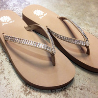 Yellow Box Jello Flip-Flop In Rich Taupe