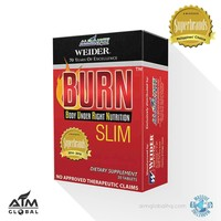 Weider BURN SLIM Dietary Organic Supplement Tablets By Nature's Way | Dietary Weight Loss Pill - 1 Box